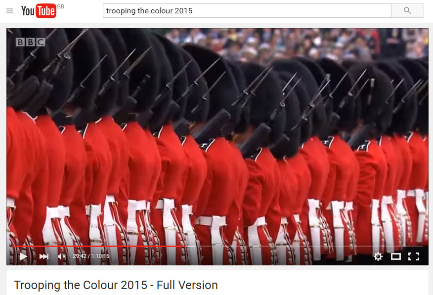 Antique Bayonet Missing At Trooping The Colour.